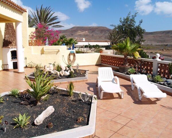 Villa Terrasse mit Meerblick Surfcamp La Pared Fuerteventura